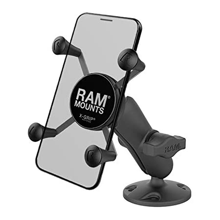 Ram Mount Composite Flat Surface Mount With Universal X Grip Cell Phone Cradle Home Cinema Tv Video