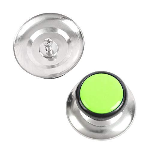 N/A 2 pcs Boutons Couvercle Pan Pots Couvercle Couvercles Remplacement Bouton en Plastique Poignée Résistance À La Chaleur pour Cuisine Ustensiles De Cuisine Couverture Vert