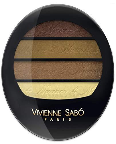 Vivienne Sabo - Quartet Eyeshadow Quatre Nuances, Farbe:Braun, Typ:copper brown
