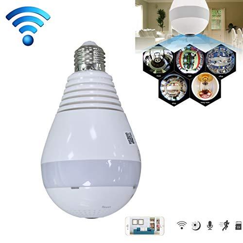 GJPAJGID bewakingscamera DJ-DP266 E27 lamp 360 graden 2.0 MP Smart Wireless WiFi IP-camera ondersteunt TF-kaart (128 GB max), versie White Light
