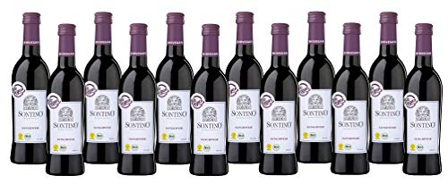 Sontino BioVegan Sangiovese Halbtrocken (12 x 0.25 l) Rotwein aus Italien