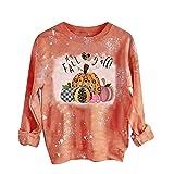 Long Sleeve Thanksgiving Shirts for Women 2021 Trendy...