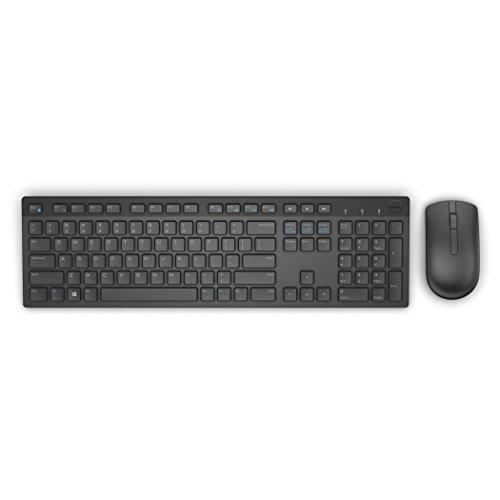 DELL KM636 Tastatur RF Wireless QWERTY Spanisch Schwarz - Tastaturen (Standard, Kabellos, RF Wireless, QWERTY, Schwarz, Maus enthalten)