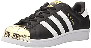 adidas Originals Women s Superstar 80s Shoes Sneaker Core Black/White/Gold Met 6.5