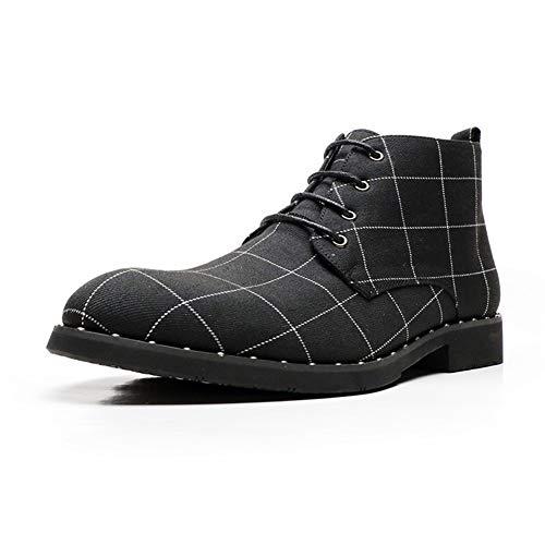 SHENNANJI for Männer Retro Ankle Boot beiläufigen Chukka-Stiefel schnüren sie Oben Mikrofaser...