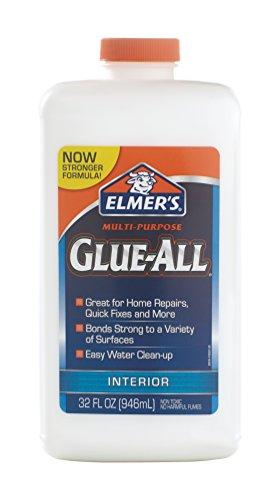 Elmer's Glue-All Multi-Purpose Liquid Glue, Extra Strong, 32 Ounces, 1 Count (E3850),White