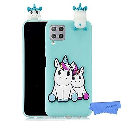HopMore Funda para Samsung Galaxy A42 5G Silicona Flexible Blando Divertidas Animal Carcasa Funda Samsung A42 5G Dibujo 3D Soft Case Ultrafina Cover Gracioso - Unicornio Verde