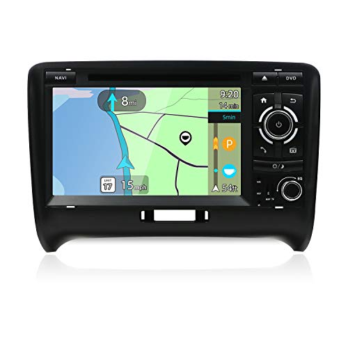 Double Din Car Stereo for Audi TT 2006-2011 Android 8.1 HD 7 inch 2G RAM+32G ROM Car Audio GPS Navigation Head Unit Support WiFi 4G Bluetooth Steering Wheel Google DAB OBD Free Backup Camera & Canbus