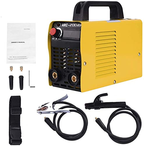 Welding Machine, 110V Plug, 200Amp Power, IGBT AC DC Beginner Welder With Display LCD Use Welding Rod Equipment Tools Accessories