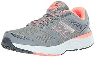 New Balance Women's W560v7 Cushioning Running Shoe, Steel, 7.5 D US