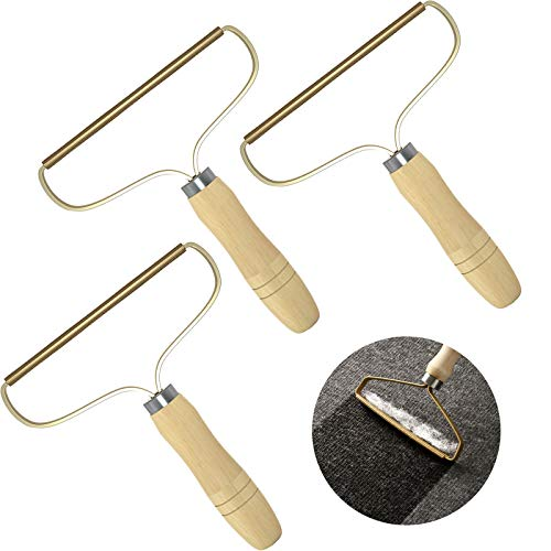 TRIUMPHANT Fusselentferner (3 Pack) für Kleidung Manueller Fuzz Shaver Wiederverwendbarer Doppelseitiger Fusselentferner Reisenbürste zum Entfernen von Fusseln Tierhaaren Staub in Kleidung und Möbeln