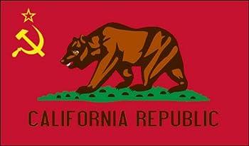 California Communist Flag Sticker  Newsom Anti Liberal ca Gavin Socialism no