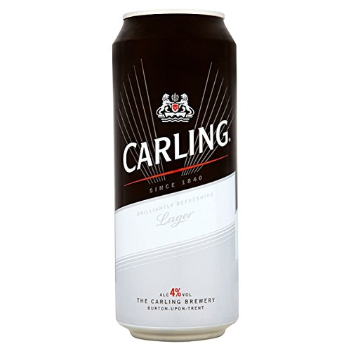 Carling Lager 500ml (Packung mit 24 x 500 ml)
