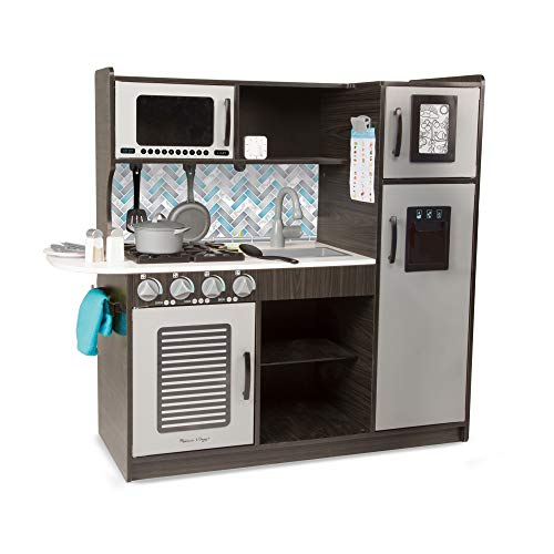 "Melissa & Doug Wooden Chef's Pretend Play Toy Kitchen With ""Ice"" Cube..."
