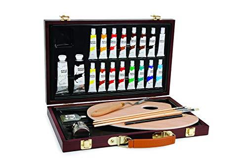 Darice 1103-083 Studio 71, 27 Piece Acrylic Painting Set, Wood Box