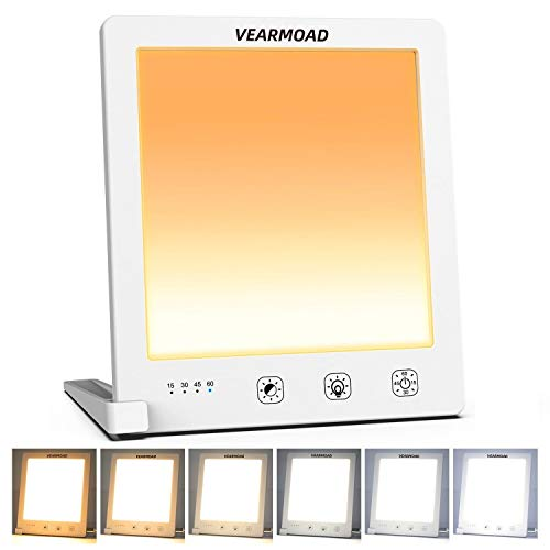 VEARMOAD UV-Free 10000 Lux LED Light Adjustable Brightness Therapy Lamp, Portable...