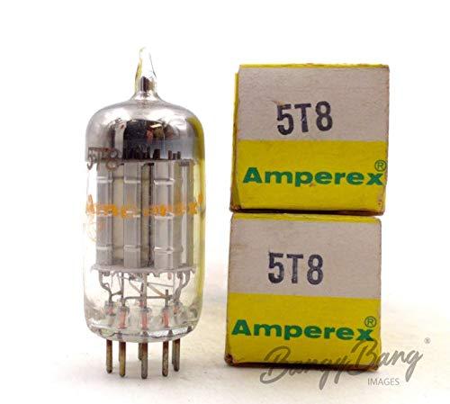 Buy Bargain 2 Vintage Amperex 5T8 Triple Diode Triode FM AM detector Radio/TV Valve- BangyBang Tubes