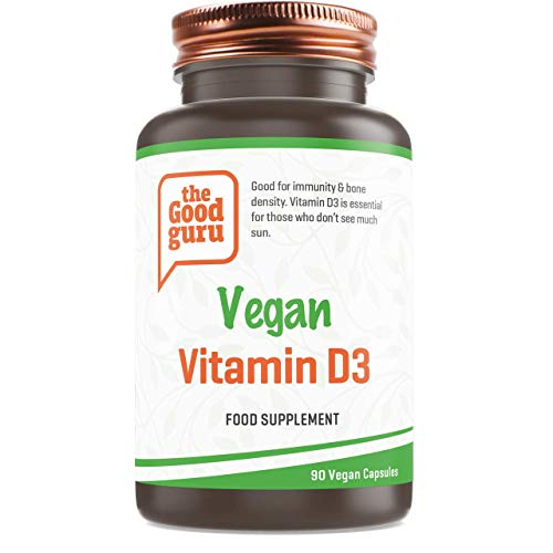 Vitamin D3 by The Good Guru | Containing 2500IU Per Capsule | Strengthen Bones, Immune System & Muscle Function