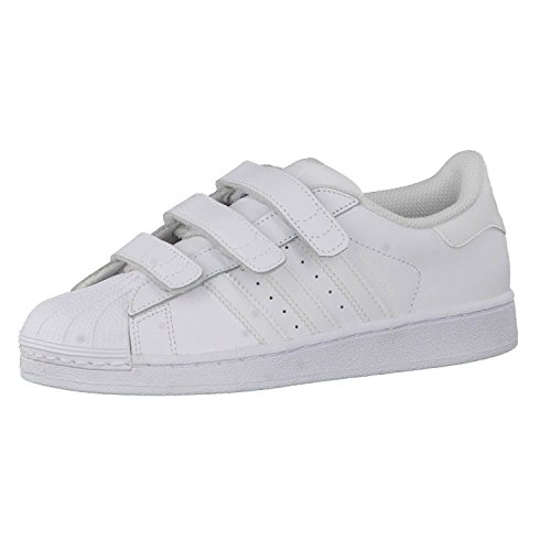 adidas Unisex-Kinder Superstar Foundation Low-Top Sneaker - Weiß (Ftwr White/Ftwr White/Ftwr White) , 36 2/3 EU