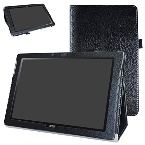 Acer Iconia One 10 B3-A40 Case,Mama Mouth PU Leather Folio 2-Folding Stand Cover with Stylus Holder for 10.1' Acer Iconia One 10 B3-A40 Android Tablet,Black
