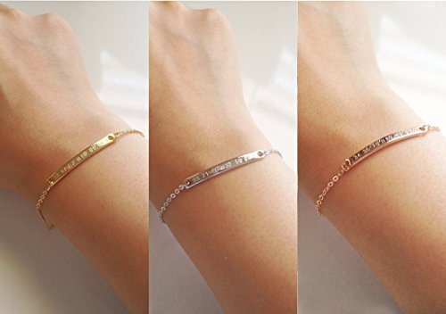 A Delicate Coordinate Bracelet Personalized Bridesmaid Gift Girlfriend Best Friend Valentine's Day Gift for Her Women - 2BR