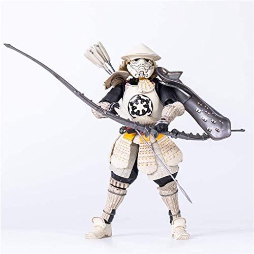 Figura de acción de Star Wars Arco y flecha Figura de acción de soldado blanco Modelo de acción de samurái japonés con accesorios de armas-Modelo de personaje de PVC-Regalo de cumpleaños Tamaño 18 cm