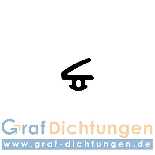 Graf Dichtungen F2186 Dichtung für Hartmann Fenster/Türen, Schwarz