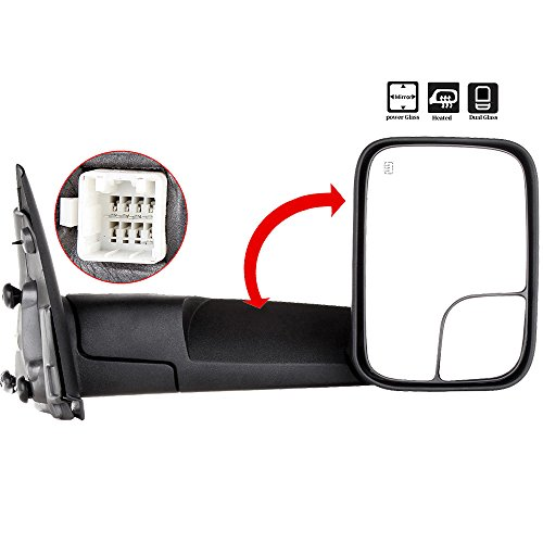 07 dodge ram heated tow mirror - 6