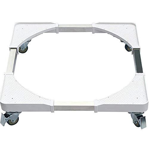 YEXINTMF Base Móvil Universal Ajustable 50-60 cm Lavadora Base Multi-Funcional Rodillo móvil Dol Secadora Nevera
