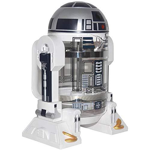 JNN Mini-Handkaffeemaschine, 960ML Creative Robot R2D2-Kaffeemaschine, tragbare Druckkanne für die Hausisolierung, für Tee, Kaffee, Haushalt und Büro