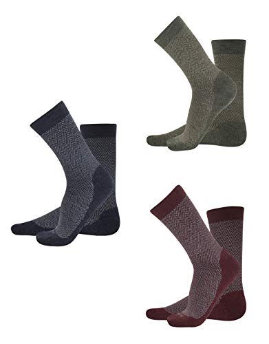CALZITALY - Pack 3 Pares Calcetines Lana Merino, Calcetines Invernales, Calcetines Térmicos| Negro + Azul + Beige | 35/38, 39/42, 43/46 | Made in Italy (39/42, Multicolor)