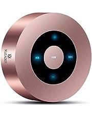 XLEADER SoundAngel (2 Gen) Enceinte Bluetooth Tactile 5W avec boîtier étanche IPX7, 15hrs Musique, Son cristallin, Haut-Parleur Portable Mini Premium pour iphone ipad Tablette Cadeau Douche, Or Rose