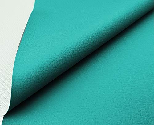 Tukan-tex Kunstleder Möbel Textil Meterware Polster Stoff PVC (Türkis)