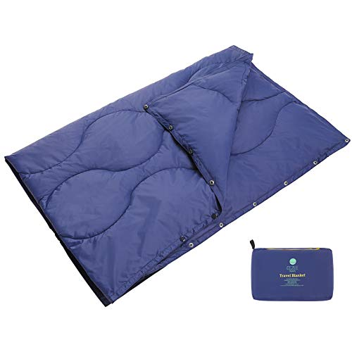 EEZEE Leichte Reisedecke Outdoor Decke Wasserabweisend Kompakt für Camping Picknick Reisen 150 x 100cm…