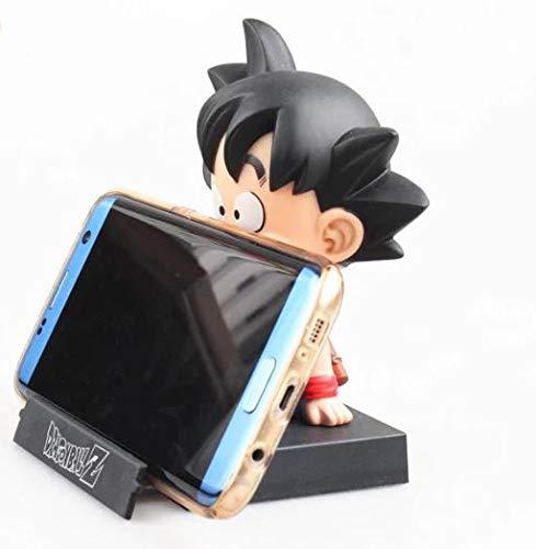 DIANXIA Figura Goku Soporte para movil de 12 cm Dragonball Dragon Ball Goku Pequeño Bola...