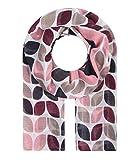Majea Schal Damen Tuch Kopftuch Halstuch Schals und Tücher mit Muster Stola (weinrot 16)