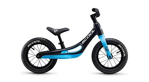 RennMaxe : Laufrad Scool pedex Magnesium - Black matt/neon Cyan - inkl Sicherheitsband - Kinder Lauflernrad