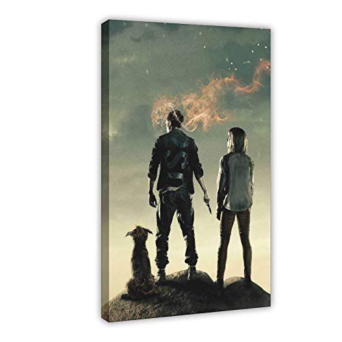 Chaos Walking Classic Movie Abstract Posters for Room Aesthetic Canvas Poster Bedroom Decor Sports Landscape Office Room Decor Gift 12×18inch(30×45cm) Frame-style1