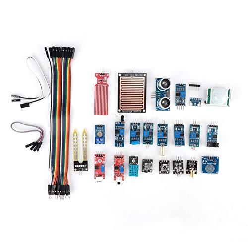 EVTSCAN último kit de módulo de sensor para Raspberry Pi, componente electrónico de aprendizaje principiante 22 en 1, compatible con Raspberry Pi y STM32