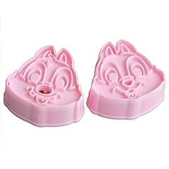 ZNU Lot de 2 moules emporte-pièces en forme des écureuils Tic et Tac pour décorer vos gâteaux et autres pâtisseries