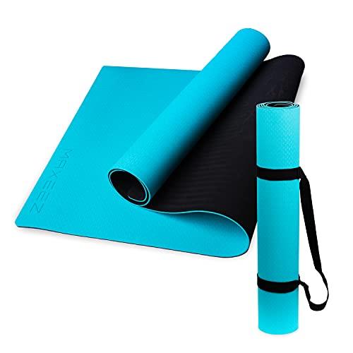 MAXEEZ® Yoga Matte TPE türkis   80cm breit für mehr Sicherheit   Umweltfreundliche sportmatte fitnessmatte rutschfest
