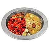 Fondue Pot Hot pot Hot pot with divider Divided Hot Pot Chinese hot pot Extra Thick Divided Stainless Steel Hot Pot for Induction Cooker Cooking Pot Chinese Fondue