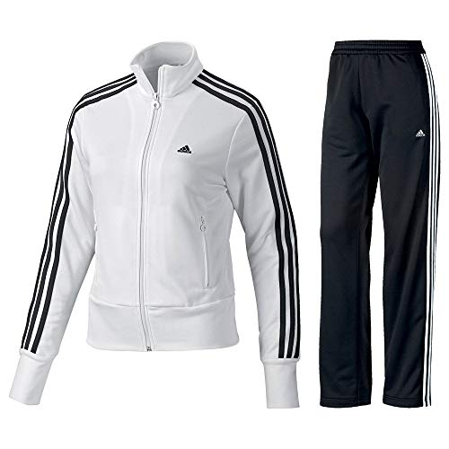 adidas Damen Trainingsanzug Essentials, white/black, 38, P90387-38