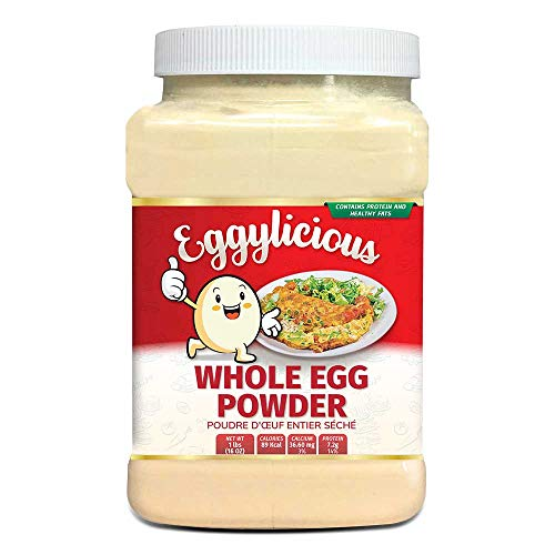 Eggylicious Whole Egg Powder, Dried Natural Protein Powder, Made from Fresh Eggs, White & Yolk mixed, Pasteurized, Non-GMO, No Additives, Used for Baking Icing,1lbs(16oz)