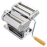 WWWANG Máquina de Fabricante de pastas Mano de Acero Inoxidable Manual de manivela Pasta Roller Cortador Fideos Makers Cocina Utensilios de Cocina Almacenamiento pequeño, práctico y portátil
