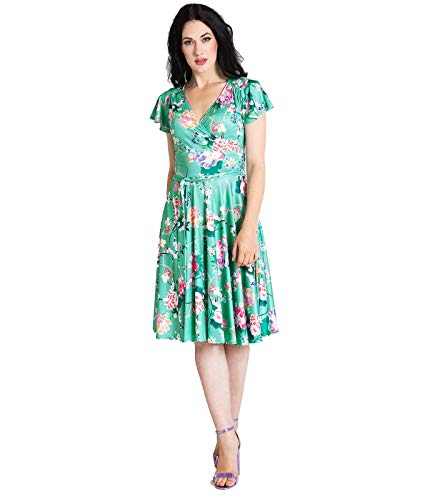 Hell Bunny Midori Dress Frauen Kurzes Kleid Mint S, 95% Polyester, 5% Elasthan, Casual Wear, Rockabilly