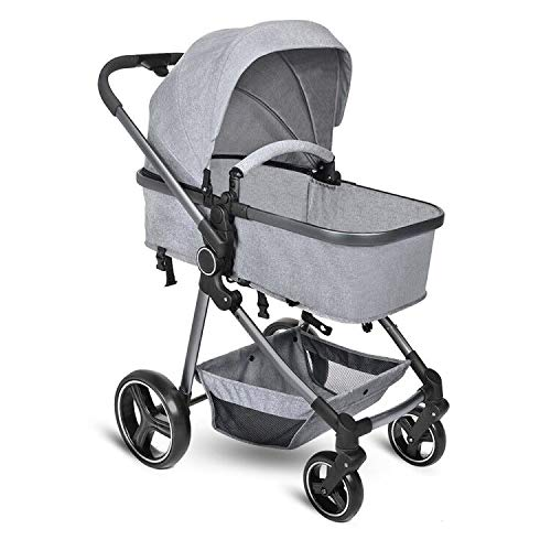 Cheapest Prices! B BAIJIAWEI Convertible Stroller Bassinet - Baby Bassinet Stroller - Newborn Carria...