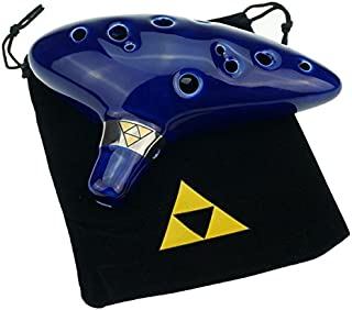 """Cheffort"" 12 Hole Ocarina From Legend of Zelda,alto C Ocarina with Protective Bag,Buy zelda ocarina,12 hole zelda ocarina,ocarina of time,Ocarina Play by Link in Zelda"