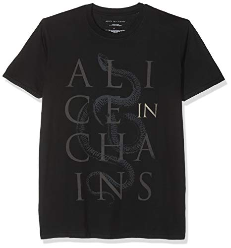 Rockoff Alice Snakes T-Shirt, Nero, Medium Uomo