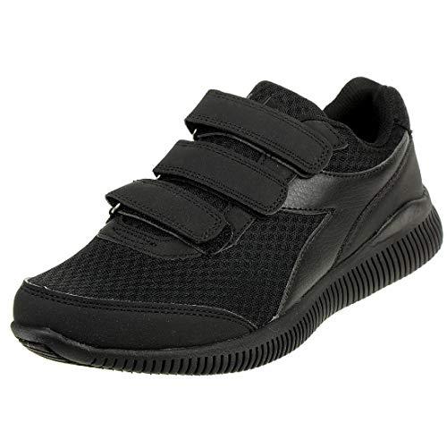 Diadora Herren Eagle 3 V Unisex Sneaker Turnschuh Schwarz Klettverschluss, Schuhgröße:45 EU